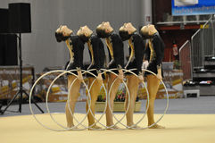 azrebaidjan gymnastiskt rythmic royaltyfri foto