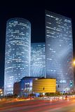Azrieli center. Tel Aviv at night. Azrieli center royalty free stock images