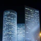Azrieli center. Tel Aviv at night. Azrieli center royalty free stock image