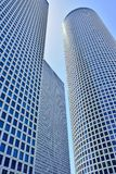 Azrieli Center at 187m, the round. Building is the tallest in Tel Aviv stock images
