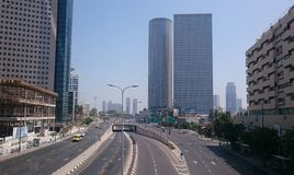 Azrieli Center Skyscrapers in Tel Aviv Stock Photos