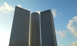Azrieli. Skyscrappers and the lue sky royalty free stock photography