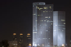 Azrieli tower in night Stock Photos