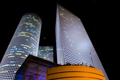 Azrieli towers. The Azrieli towers at night , Tel aviv Israel Royalty Free Stock Image