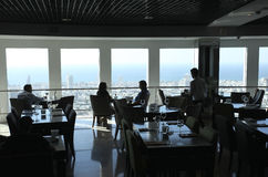 Azrieli Towers bar with observation platform in Tel Aviv, Izrael Stock Image