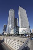 Azrieli Towers in Tel Aviv, Izrael Royalty Free Stock Photos