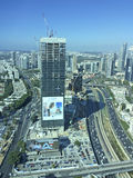 Azrieli Towers top view in Tel Aviv, Izrael Stock Images