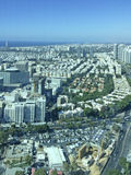 Azrieli Towers view from top to Tel Aviv, Izrael Stock Image