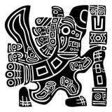 Aztèque Eagle Warrior Image libre de droits