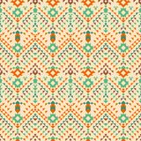 Aztec tribal seamless pattern. Geometric design. Aztec abstract geometric ornament, Boho style, seamless pattern. For the design of fabric and paper royalty free illustration
