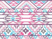 Aztec abstrakcjonistyczny geometryczny bezszwowy wzór ilustracja wektor