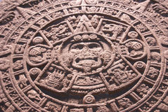 Aztec altar of the sun, Royalty Free Stock Photo