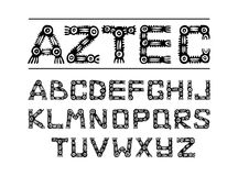 Aztec ancient ethnic alphabet Stock Photography