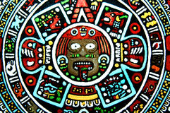 Aztec Art Reproduction Royalty Free Stock Images