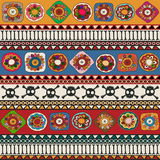 Aztec background. Aztec seamless repeating pattern design Stock Photos