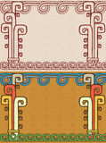 Aztec background Stock Photo