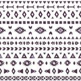 Aztec beståndsdelar av den svarta vattenfärgen på vit bakgrund Arkivbild