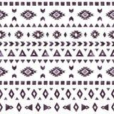 Aztec beståndsdelar av den svarta vattenfärgen på vit bakgrund Arkivbilder
