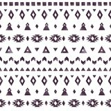 Aztec beståndsdelar av den svarta vattenfärgen på vit bakgrund Royaltyfria Foton