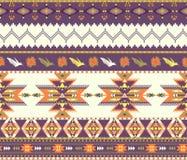 Aztec bezszwowy kolorowy wzór Obrazy Royalty Free