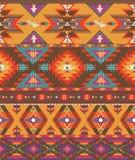 Aztec bezszwowy kolorowy wzór Obraz Royalty Free