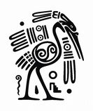 Aztec bird Royalty Free Stock Photography