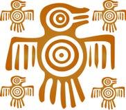 Aztec Bird. An Aztec Bird Design In Gold