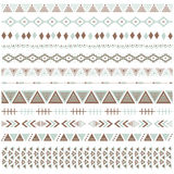 Aztec Borders Set. A vector illustration of Aztec Borders Set. Perfect for tribal, native america, scrapbooks, Thanksgiving,  greeting card and many more Royalty Free Stock Images