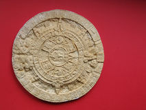 Aztec calendar. Replica of a carved stone calendar from the aztec/mayan civilization