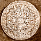 Aztec calendar. Ancient Aztec calendar close up Royalty Free Stock Photography