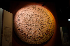 The Aztec Sun Stone at Field Museum  Royalty Free Stock Photography
