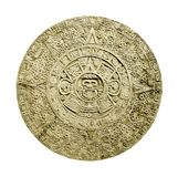 Aztec calendar. Ancient aztec calendar isolated on white background
