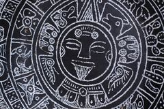 Aztec calendar Royalty Free Stock Image