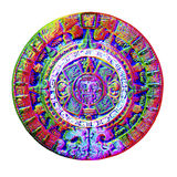 Aztec Calendar. Clay Aztec Calendar, knocked out of the background Royalty Free Stock Image