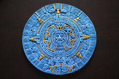 Aztec Calendar from Cancun Mexico Stock Image
