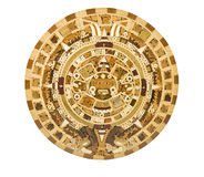 Aztec Calendar Depiction on a Wooden Panel. Photo of Aztec Calendar Depiction on a Wooden Panel Stock Photos
