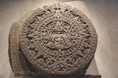 The Aztec Calendar. Stone of the sun - the Aztec calendar Stock Images