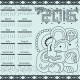 Aztec calendar 2016 Stock Photography