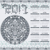 Aztec calendar 2017 Royalty Free Stock Photos
