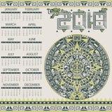 Aztec calendar 2018 Stock Image