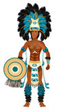 Aztec Carnival Costume. Vector Illustration of an Aztec man in Costume for Carnival Halloween or Thanksgiving