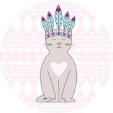 Aztec cat Royalty Free Stock Image