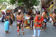 Aztec ceremony. During week-end in Mexico city, you can see traditional Aztec ceremony Stock Image
