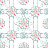Aztec circle seamless indian pattern background Royalty Free Stock Images