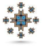 Aztec cross mandala Royalty Free Stock Photos