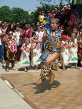 Aztec Dancer. Photo of Aztec dancer performing at the Cinco De Mayo festival in Washington D.C. on May 4, 2008.  Cinco De Mayo Celebrates Mexico's victory over Stock Photo