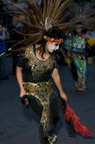Aztec dancer. A Aztec dancer preforms during the day of the dead event Stock Photo