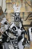 Aztec dancer. A Aztec dancer preforms during the day of the dead event Royalty Free Stock Image