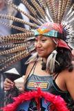 Aztec dancer in Mexico City Stock Photos