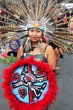 Aztec dancer in Mexico City Royalty Free Stock Photo